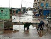 صور.. أمطار رعدية غزيرة على مناطق متفرقة بالإسكندرية