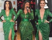 من سيلين ديون إلى أحلام.. 4 نجمات بنفس فستان زهير مراد.. مين أجمل؟