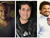 محمود العسيلى وأحمد شيبة ومصطفى حجاج يجتمعون فى حفل رأس السنة