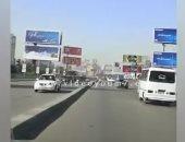 فيديو.. تعرف على حركة السيارات أعلى كوبرى أكتوبر من التحرير حتى المهندسين