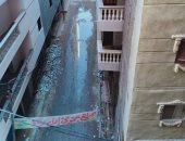 أهالى العجمى بالإسكندرية يناشدون المسئولين رصف شارع أبو النصر ورفع مياه الأمطار