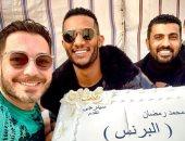 """""""أجمد كرو فى الدنيا"""".. أحمد زاهر يحتفل بأول يوم تصوير مسلسل البرنس"""