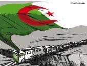 كاريكاتير صحيفة أردنية.. قطار الانتخابات الجزائرية يصل بر الأمان