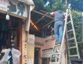 صور .. تنفيذ 7 قرارات إزالة لمخالفات وسط الإسكندرية