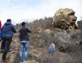 آثار صينى .. العثور على صخرة تشبه أبو الهول فى شرق الصين