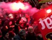 استمرار إضراب النقابات العمالية فى فرنسا احتجاجا على قوانين التقاعد الجديدة