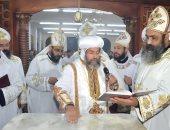 الانبا صليب يدشن كنيسة جديدة بكفر عطالله سليمان بميت غمر