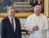 """البابا فرنسيس يقدم نسخة من """"وثيقة الأخوة الإنسانية"""" إلى أمين عام الأمم المتحدة"""