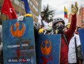 مسيرات تجوب شوارع كولومبيا ضد سياسات الرئيس إيفان دوكى