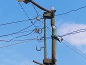 قارئ يشكو تهالك أعمدة الكهرباء بقرية المهدية بالبحيرة