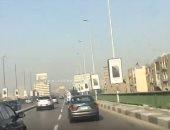 سيولة مرورية على كوبرى أكتوبر من مدينة نصر للمهندسين.. فيديو