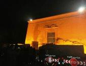 صور.. لحظة ترقب ظاهرة تعامد الشمس على معبد قصر قارون بالفيوم