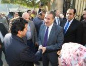 صور.. محافظ المنوفية يستقبل وزير الشباب والرياضة بمكتبه بالديوان العام