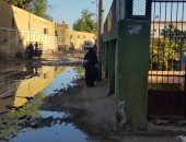 شكوى من كسر ماسورة مياه بمنطقة شرق السكه الحديد بمحافظة أسوان