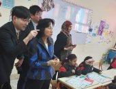 صور.. خبراء يابانيون يتابعون الدراسة بالمدرسة اليابانية بالشيخ زايد