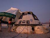 الكبسولة الفضائية ستارلاينر تهبط فى صحراء نيو مكسيكو