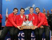 فراعنة الاسكواش يعودون إلى القاهرة بعد التتويج ببطولة العالم للمرة الخامسة