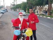 """بابا نويل """"دليفرى"""" فى الأقصر لتوصيل الطلبات إلى المنازل.. صور"""