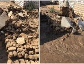 شكوى تسريب مياه الصرف الصحى فى مقابر دشلوط محافظة أسيوط