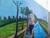 رئيس الوحدة المحلية بشطانوف يطلق حملة جداريات لتجميل القرية (صور)