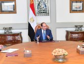 """السيسى يجتمع بمدبولى وكامل الوزير ويوجه بتنفيذ استراتيجية تحديث """"النقل"""""""