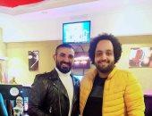 شاهد كواليس تسجيل أحمد سعد لـ أغنية جديدة
