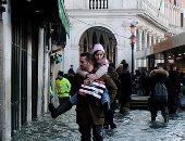 شوارع مدينة البندقية تغرق فى مياه الفيضانات