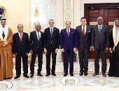 صور.. السيسي يلتقى مجموعة من وزراء التعليم والبحث العلمى العرب