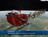 فيديو.. بابا نويل يوزع هدايا عيد الميلاد تحت مراقبة الدفاع الجوى الأمريكى