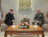 حفتر يستقبل رئيس مجلس النواب الليبى بحضور قيادات عسكرية بالجيش