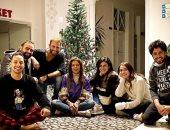 """صور.. نجوم فيلم """"ماكو"""" يحتفلون بالكريسماس فى كواليس التصوير"""