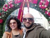 """""""سلامة"""" يشارك صحافة المواطن صوره خلال الاحتفال بالكريسماس مع زوجته"""