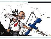 كاريكاتير الرأى الأردنية.. ارسال الأفكار السامة عن طريق الفيس بوك