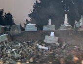 """سكاي نيوز: """"العاصفة لولو"""" تتسبب فى انهيار جزء من مقبرة اليهود ببيروت"""