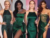 إزاى تلبسى الفستان الأخضر الساتان على طريقة نجمات هوليود؟.. الإجابة فى 4 طرق