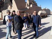 آمين الأعلى للآثار يتابع الخدمات السياحية المقدمة بالمواقع الآثرية بالأقصر