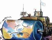 كاريكاتير صحيفة فلسطينية: هدم بيوت الفلسطينيين بمدرعة إسرائيلية