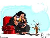 """كاريكاتير """"الرياض"""".. نظام """"الملالى"""" مرضعة الميليشيات المسلحة"""