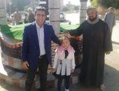 صور.. رئيس مدينة البياضية ونائبه يفتتحان ميدان جديد وبدء التسجيل بالتأمين الصحى الشامل