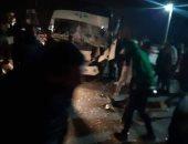 إصابة 17 شخصا في انجراف أتوبيس رحلات على طريق الغردقة غارب