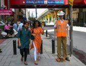 """الشرطة الهندية تستخدم """"دمى خشبية"""" لضبط مخالفات المرور.. اعرف التفاصيل"""