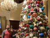 """""""شادى"""" يشارك بصور احتفاله بأعياد الكريسماس"""