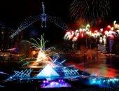سنغافورة تحتفل بالعام الجديد 2020 بالألعاب النارية.. صور وفيديو