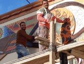 صور.. محافظ أسيوط: تركيب جدارية جديدة بميدان المحطة وتطوير ميدان سيتى