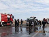 إصابة 7 أشخاص فى حادث تصادم سيارة نقل بملاكى على صحراوى بنى سويف