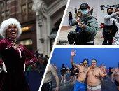 صور.. العالم هذا المساء.. المئات يسبحون فى الماء البارد بألمانيا احتفالا برأس السنة الجديدة.. الألاف يشاركون باحتجاجات فى أول أيام العام الجديد فى هونج كونج.. وعروض فنية فى شوارع لندن احتفالا برأس السنة الجديدة