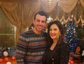"""رامى رضوان لـ دنيا سمير غانم فى عيد ميلادها :""""أغلى زوجة وأم وصديقة"""""""