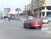 فيديو .. سيولة مرورية بشارع البطل أحمد عبد العزيز مع أول أيام السنة الجديدة