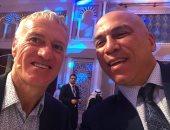 صور .. محمد يوسف برفقة نجوم العالم بمؤتمر دبى الرياضى