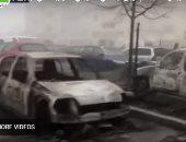 هو فيه كده!.. إحراق جماعى عشوائى للسيارات فى فرنسا بليلة رأس السنة